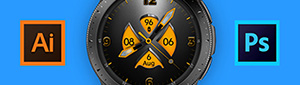 Looking to create a custom watch face design for a Samsung Galaxy Watch? Here are a few tips to use when importing graphics from programs like Illustrator and Photoshop into Galaxy Watch Designer.