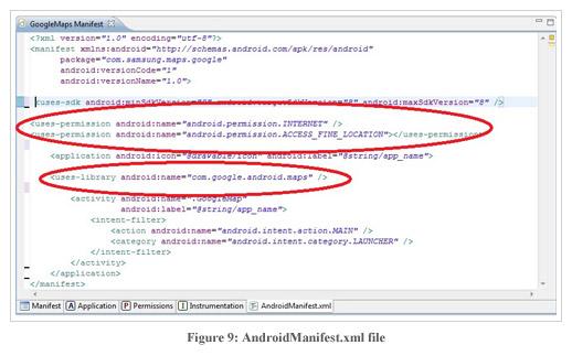 Figure9:AndroidManifest.xml file