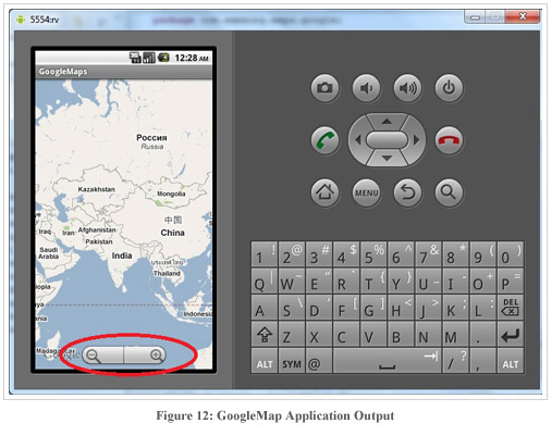 Figure12:GoogleMap Application Output