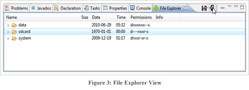 Figure3 : File Explorer View