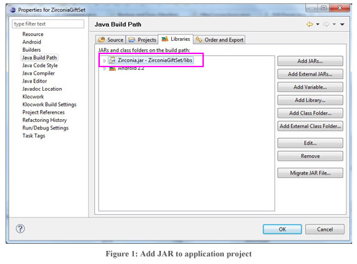 Figure1 : Add JAR to application project