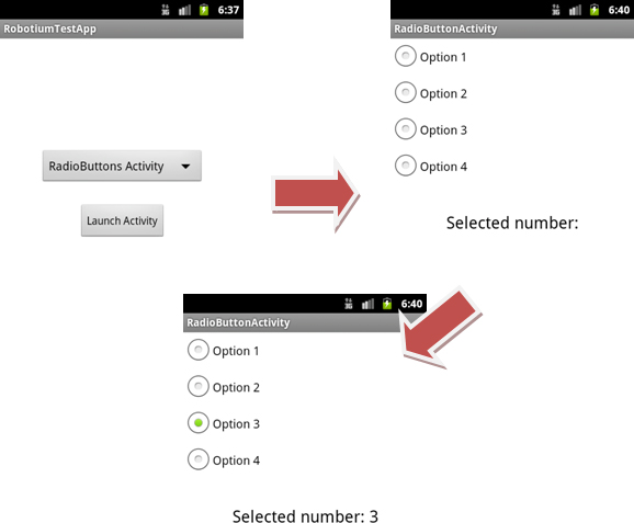 Select number in RadiobuttonActivity