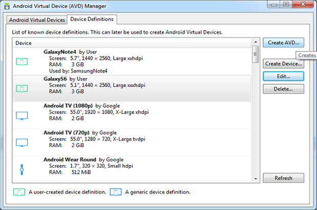 [Figure 1] Start screen of the example program (main menu)