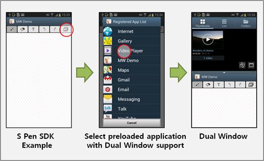[Figure 29] Running Multi Window apps