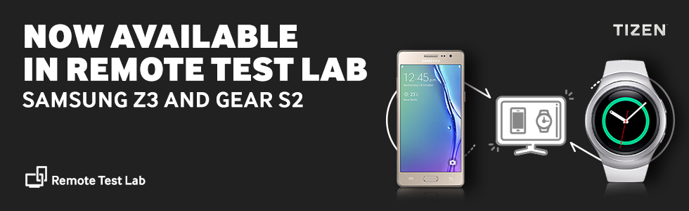 NOW AVAILABLE IN REMOTE TEST LAB. SAMSUNG Z3 AND GEAR S2. Remote Test Lab