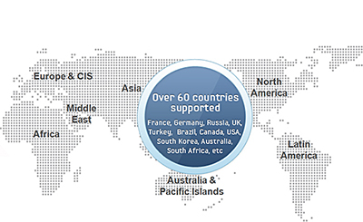 figure 1. Over 60 countries supported