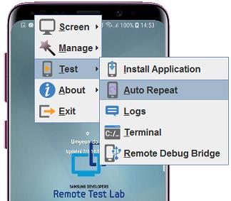 Auto-test menu